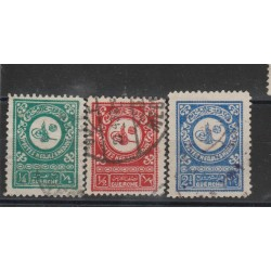 ARABIA SAUDITA 1932  DEFINITIVA IN GARCH YVERT N 96/98 - - 3 V USATI  MF50560