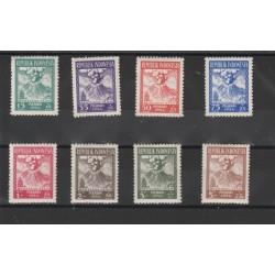 1954  INDONESIA  VITTIME VULCANO   YV 74 /81   - 8 V MNH  MF50464