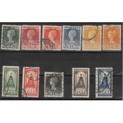 1923 OLANDA NEDERLAND INCORONAZINE 11 VALORI USATI  MF50624