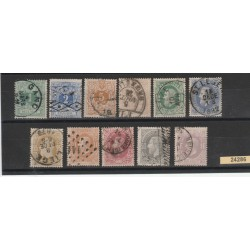 1869 BELGIO BELGIE  BELGIQUE  CIFRA  11  VALORI  USATI MF24286