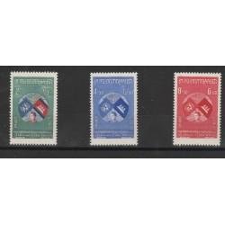 1957 CAMBOGIA  ANNESSIONE ONU 3 VAL MNH MF50637