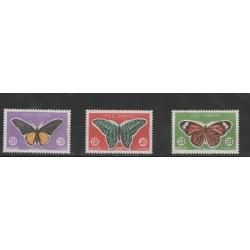 1969 CAMBOGIA  FARFALLE 225/27 - 3 VAL MNH MF50636