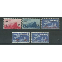 1947-48 SAN MARINO ESPRESSI SOPRASTAMPATI 5 VALORI MNH  MF25118
