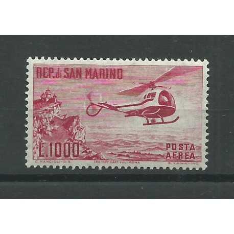 1961 SAN MARINO POSTA AEREA ELICOTTERO LIRE 1000 1 VALORE NUOVO MNH MF24240