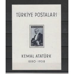 1940 TURCHIA TURKIYE RITRATTO DI ATATURK 1 BF  UNIF BF N 1 MLH MF50754