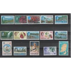 GRENADA 1966  EFFIGI E VEDUTE  15 VALORI MNH YV 200-14  MF50775