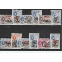 SIERRA LEONE 1963  INDIPENDENZA YV 228/33+ PA 1/6 12 VAL MNH  MF50785
