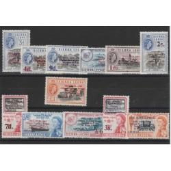 SIERRA LEONE 1963  POSTE INGESI  IN AFRICA  12 VAL MNH  MF50787