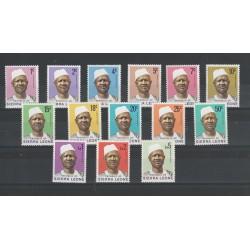 SIERRA LEONE 1972  PRESIDENTE SIAKA - STEVENS  14 VAL MNH  MF50788