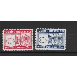 1937  TURCHIA TURKIYE INTESA BALCANICA 2  V UNIF 6-8 MLH MF50592