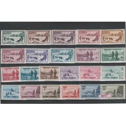 S PIERRE ET MIQUELON 1938   VEDUTE  22 V MLH MF 50717