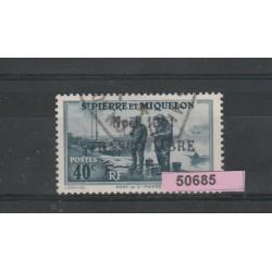 S PIERRE ET MIQUELON 1941  NATALE  1 V  USATO  MF 50685