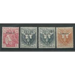 1916 SOMALIA SERIE CROCE ROSSA 4 VALORI NUOVI MLH MF25272