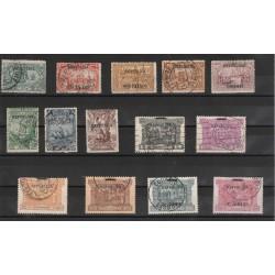 1911 PORTOGALLO PORTUGAL VASCO DE GAMA SOPRASTAMPATI  14 VAL. USATI  MF50870