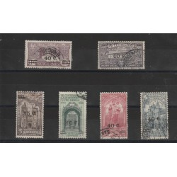 1933  PORTOGALLO PORTUGAL  SANT ANTONIO  SOPRASTAMPATI  6 VAL. USATI MF50881