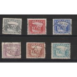 1931/32  ISLANDA ICELAND  VEDUTA  6 VAL USATI  MF50852