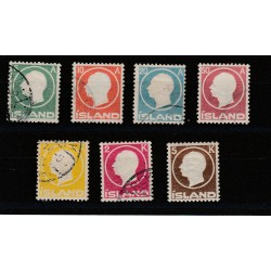 1912  ISLANDA ICELAND  FEDERICO VIII  6 VAL USATI  MF50924