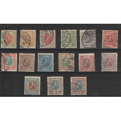 1907  ISLANDA ICELAND  FEDERICO VIII E CRISTIANO IX  15 VAL USATI  MF50926