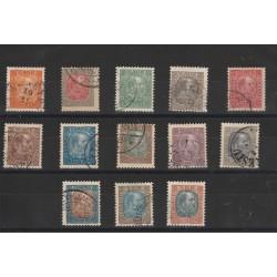 1902-04  ISLANDA ICELAND  EFFIGIE  CRISTIANO IX  13 VAL USATI  MF50927