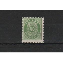 1876 ISLANDA ICELAND   CIFRA E CORONA   1VAL  NUOVO MNH  MF50929