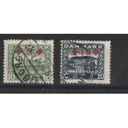 DANIMARCA 1919-1920 PACCHI POSTALI I TIPO 4 V USATI CERT CAFFAZ MF4388