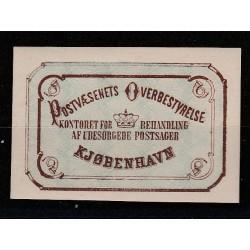 1878  DANIMARCA DANMARK FRANCOBOLLI DI RITORNO  UNIF. N. 1 MLH MF50988