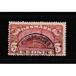 1912 DANIMARCA DANMARK PALAZZO POSTE DI COPENAGHEN 1 VALORE USATO MF50992