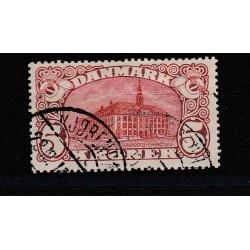 1912 DANIMARCA DANMARK PALAZZO POSTE DI COPENAGHEN 1 VALORE USATO MF50993