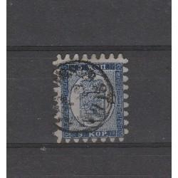1860 FINLANDIA  STEMMA   INIF N° 3A  RAYBAUDI   1 V USATO MF51047