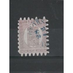 1866 / 70 FINLANDIA SUOMI STEMMA  INIF N° 5 - 1 VAL USATO MF51053