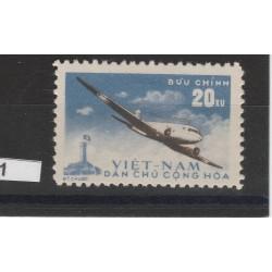 1959 VIETNAM DEL NORD  P A  AEREO IN VOLO   1  VAL NUOVI MLH MF51021
