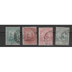 1910 REGNO SERIE  PLEBISCITO SUD ITALIA GARIBALDI 4 VALORI USATI MF51080