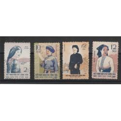 1960 VIETNAM DEL NORD  COSTUMI DIVERSI  4 VAL NUOVI S G  MF51013