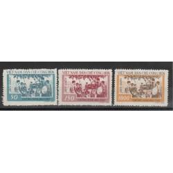 1958 VIETNAM  DEL NORD ANAFABETISMO 3 VAL  MLH  SG MF51091