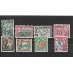 FIJI 1954 DEF ELISABETTA II SOGGETTI DIVERSI 8 V MNH YV 137-44 MF12394