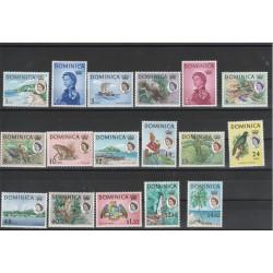 DOMINICA 1963-67 DEFINITIVA ELIZABETH II  17 V NUOVI MNH YV 159-75 MF 51065