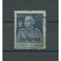 1925/26 TRIPOLITANIA GIUBILEO DEL RE LIRE 1.25 DENTELLATO 11 USATO A DIENA - GAZZI MF25328
