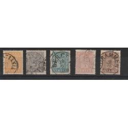 1863 NORVEGIA NORGE STEMMA CON LEONE  N 6/10 -   5 V  USATI MF51003
