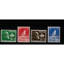 1941 NORVEGIA NORGE  PRO NAUFRAGHI 4 V MNH UNIF 208-211 MF51141