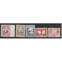 1967-68  GROENLANDIA GRONLAND  ANNATE COMPLETE 5 VAL MNH  MF51136