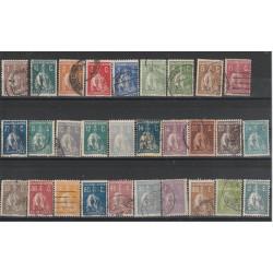 1917-21 PORTOGALLO  CERERE  SERIE  29 VALORI SERIE MISTA  MF51150
