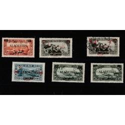 ALAOUITES 1926-28 SOPRASTAMPATI  6 VAL  SERIE MISTA  MF51160