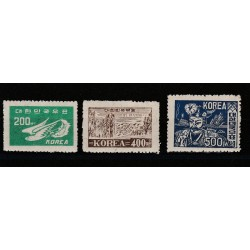 1950  COREA DEL SUD  SOGGETTI VARI  YV 61-63 - 3 VAL NUOVI MNH MF51205