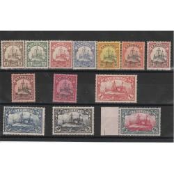 1900 GERMANIA COLONIE ISOLE CAROLINE KAROLINEN  VASCELLO   13 VAL YVERT 7-19 MNH MF51218