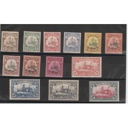 1900 GERMANIA COLONIE ISOLE MARIANNE MARIANEN  VASCELLO   13 VAL YVERT 7-19 MLH MF51214