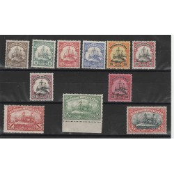 1900 GERMANIA COLONIE  KIAO- TCHEON  VASCELLO IMPERIALE   13 VAL YVERT 1/13 MNH MF51216