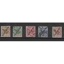 1896 GERMANIA COLONIE  AFRICA ORIENTALE SOPRASTAMPATI  5 VAL YVERT 6/10 MISTI  MF51226