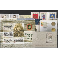 2003  LITUANIA LIETUVA ANNATA COMPLETA 24 VALORI E 3 BF MNH  MF51241