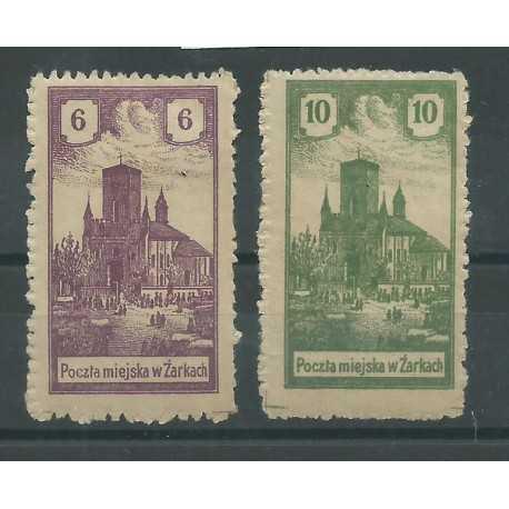 1918 POLONIA POLSKA EMISSIONI LOCALI ZARKI SERVIZIO 2 V NUOVI MLH CAFFAZ MF25340