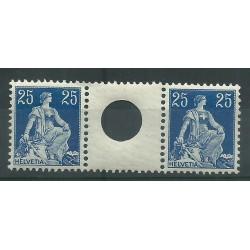 1908 SVIZZERA HELVETIA INTERSPAZIO CON FORO N. S 1 MNH MF25358